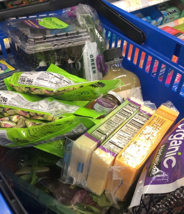 Organic produce and items from Walmart